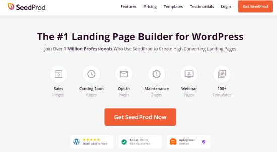seedprod best landing page builder for wordpress