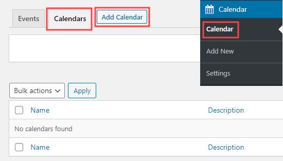 Adding a new calendar to the sugar calendar