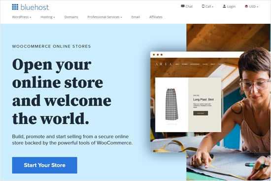 Starting your online store with Bluehost