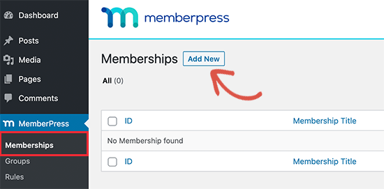 Create new membership