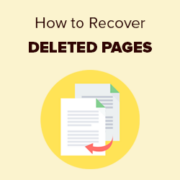 How to Recover and Restore Deleted Pages in WordPress
